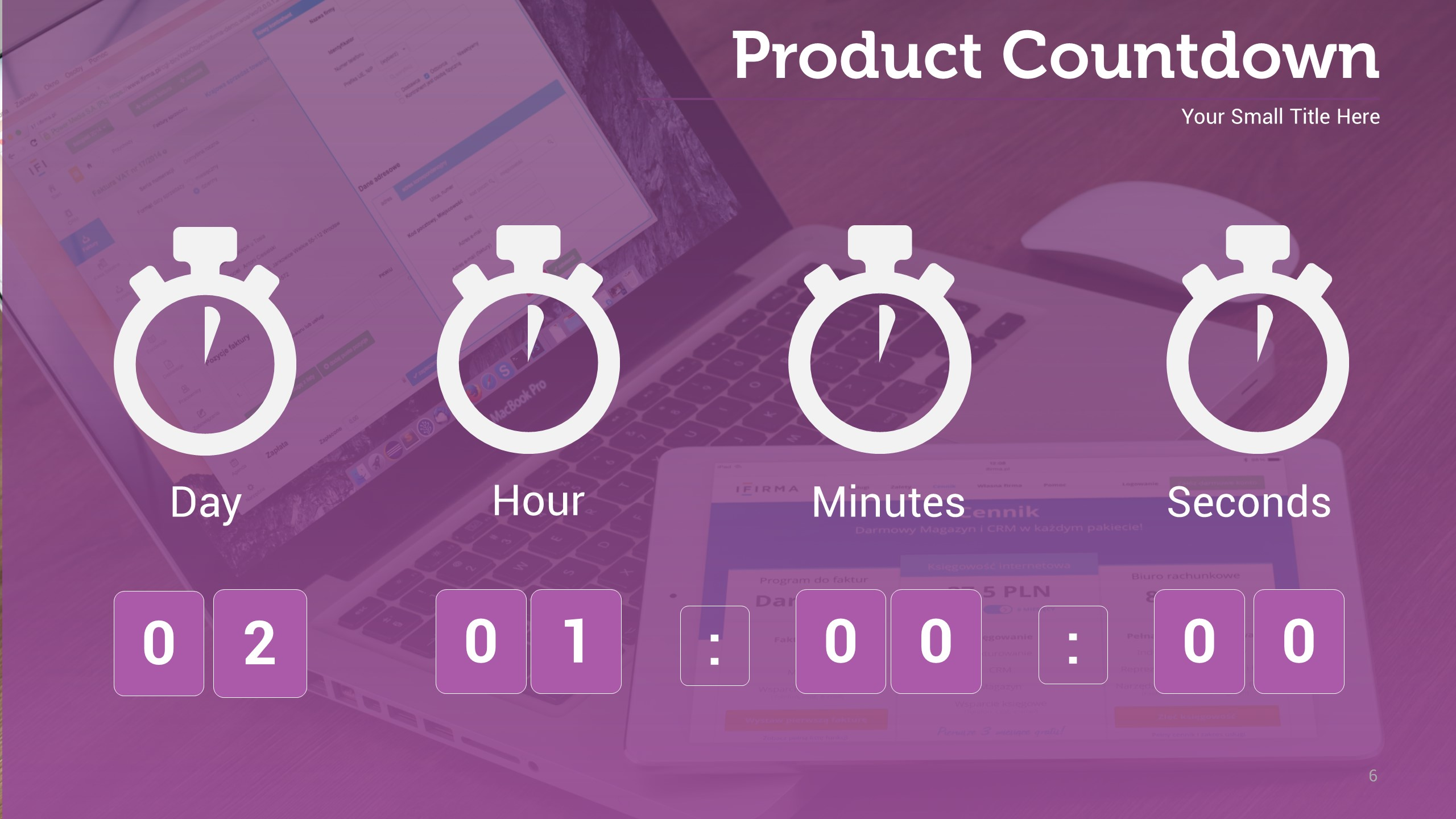 Product countdown infographic