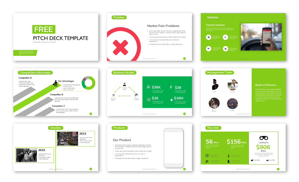 free pitch deck powerpoint template and google slides pitch deck