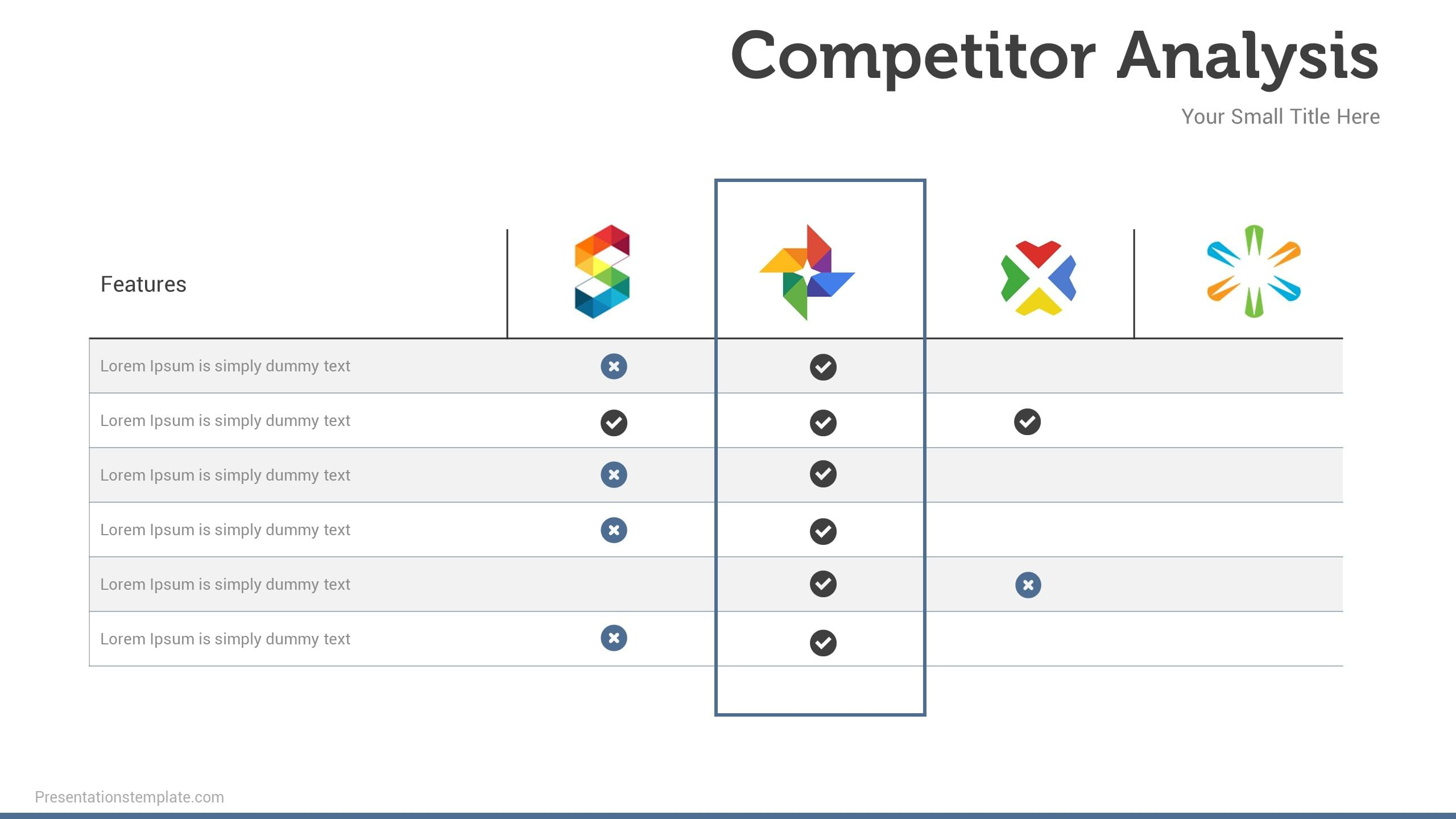 Competitor Analysis Presentation Template