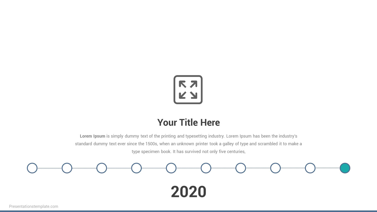 Powerpoint timeline slide