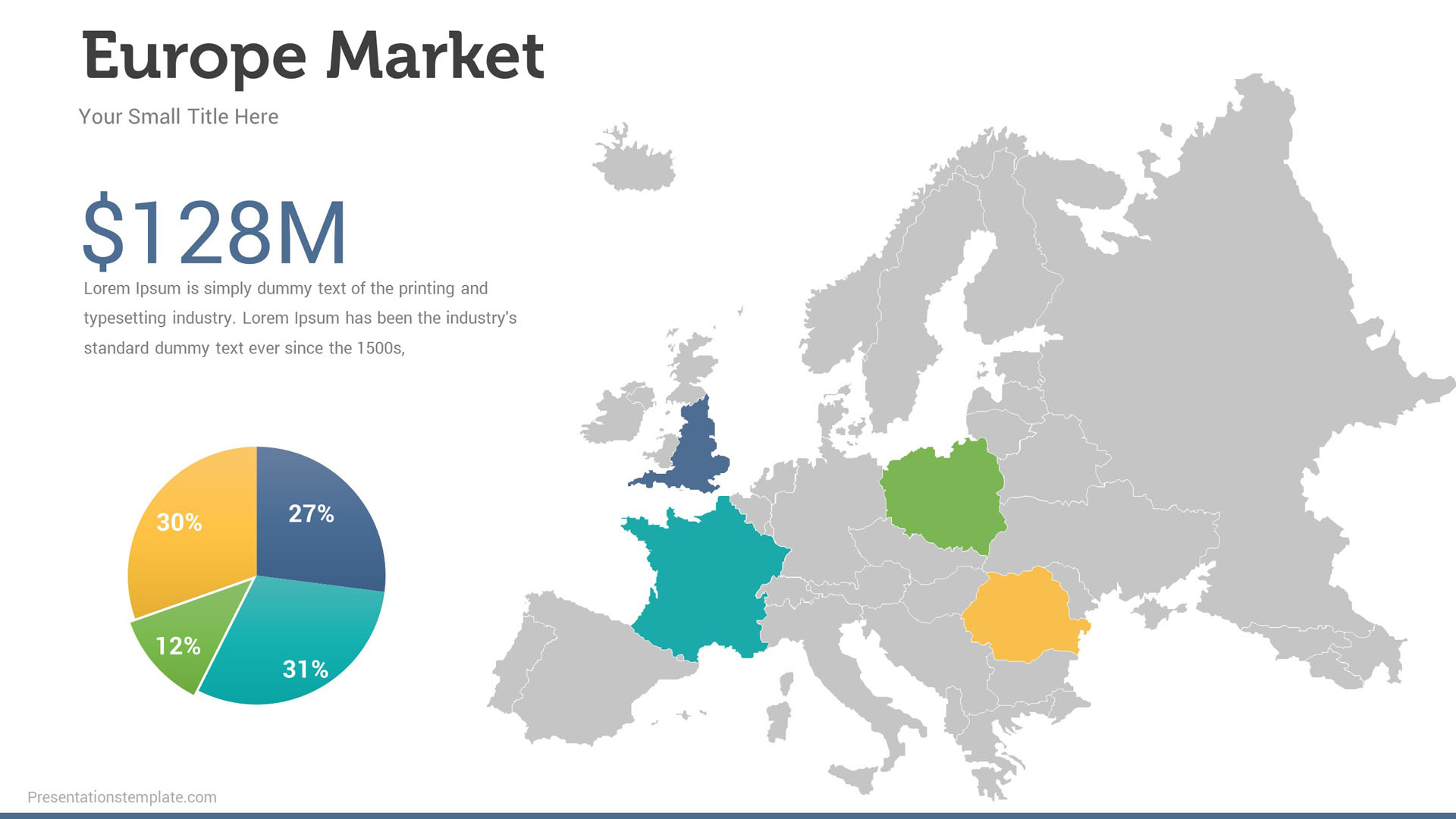 market size map infographics