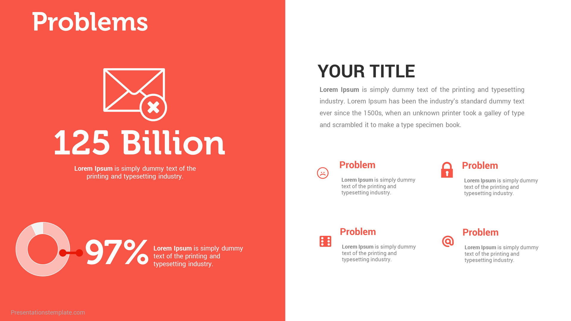 pitch deck problem slides  u2013 presentations template