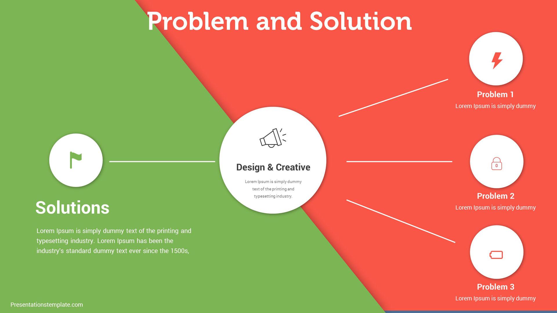 presentations template pitch deck solution slides